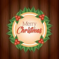 god julkort med prydnad vektor