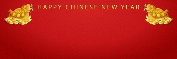 banner för gott kinesiskt nyår vektor