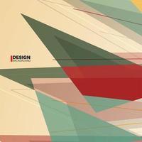 geometrisk abstrakt bakgrund. överlappning av moderna former