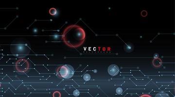 abstrakter Punkt- und Linien-Tech-Hintergrund vektor