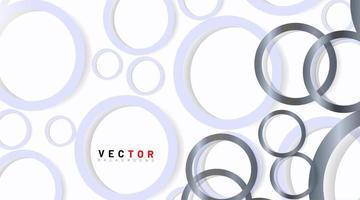 abstrakter grauer silberner Ringhintergrund vektor