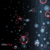 abstrakter Kreislinienpunkt schwarzer Hintergrund vektor