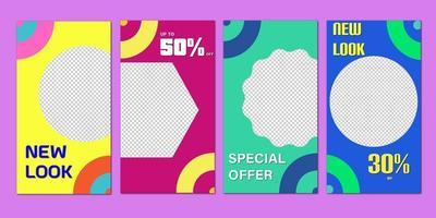 Satz Super Sale Banner. Verkauf und Rabatte. Vektorillustration