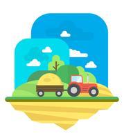 platt jordbrukslandskap vektor