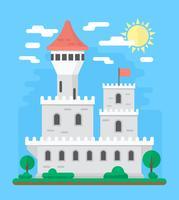 Flaches Schloss Design