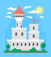 Flaches Schloss Design vektor