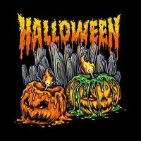 halloween pumpor illustration vektor