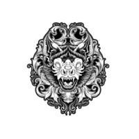 dekorative Fledermaus verzierte Design vektor
