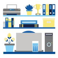 Vektor Büro-Desktop-Elemente