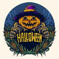 gruseliges Halloween Kürbis Design