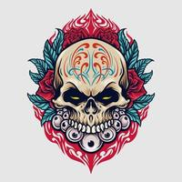 Mexiko Zuckerschädel Dia de los Muertos Illustration vektor