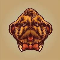 hund gentleman maskot illustration vektor