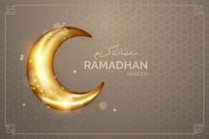 realistischer Ramadhan Hintergrund mit Mond vektor