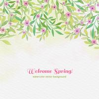 Vektor Aquarell Frühling Hintergrund