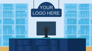 Vektor Shop Inredning Illustration