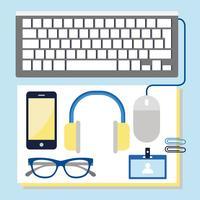 Vector Office-Elemente und Zubehör