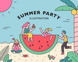 Sommerfestplakat. vektor