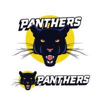 Schwarzer Panther-Logo-Vektor