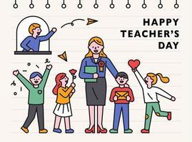 lärarens dag banner mall. vektor
