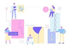Business-Technologie-Banner-Vorlagen. vektor