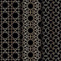 islamiskt geometri mönster vektor