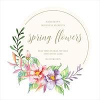 Aquarell Frühlingsblumen vektor