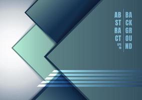 abstrakta blå geometriska rutor som överlappar varandra på vit bakgrund. vektor