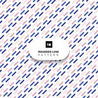 abstraktes rosa und blaues diagonales Muster der gerundeten Linie auf weißem Hintergrund. vektor