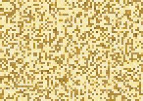 guld fyrkantig pixel mosaik mönster bakgrund och struktur. vektor