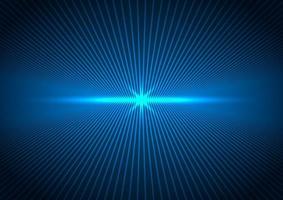 futuristisches Konzept der abstrakten Technologie Verbindungsperspektive Linien mit blauem Blitz