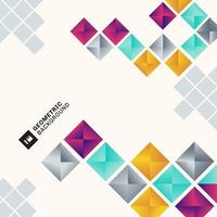 abstrakt färgglada geometriska fyrkantiga mönster bakgrund minimal stil.