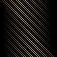 abstraktes goldenes diagonales Linienmuster auf schwarzem Hintergrund und Textur. vektor