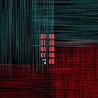 blaue und rote Kratzlinien des abstrakten Schmutzmusters auf schwarzem Hintergrund vektor