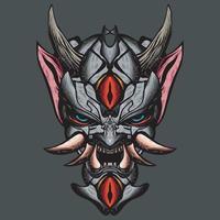 Oni Maske Illustration. vektor