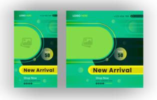 Social Media Post, Geschichten Design Template Set vektor