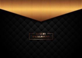 abstrakt mall svart geometriska rutor mönster design med prickar linjer rutnät på mörk bakgrund vektor