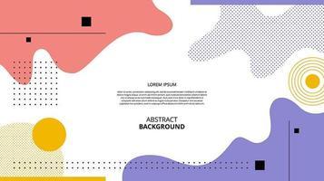 abstrakter flacher geometrischer Fluss formt Hintergrund vektor