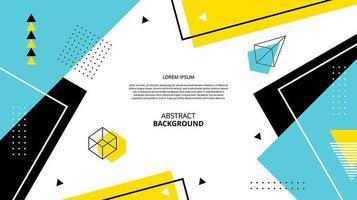 abstrakte flache Memphis geometrische Formen Hintergrund vektor