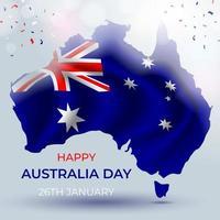 glad australien dag vektor