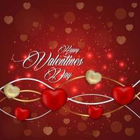 glad Alla hjärtans dag bakgrund med hjärtan