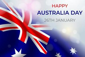 realistiska Australien dag koncept vektor