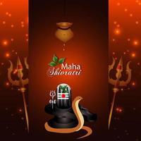 kreativ bakgrund för lycklig maha shivratri