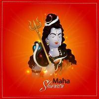 illustration glad maha shivratri av indisk festival
