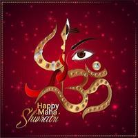 kreativ illustration av Lord Shiva för Mahashivratri vektor