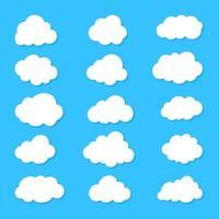 Wolkensatzvektor vektor