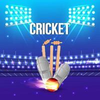 Cricket-Match-Konzept mit Hintergrund