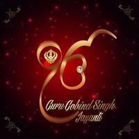 Guru Gobind Singh Jayanti Feier vektor