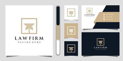 Logo-Design und Visitenkarte der Anwaltskanzlei