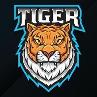 Wildtier Tiger Maskottchen Design vektor
