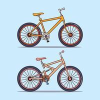 Satz von zwei modernen Fahrrädern vektor